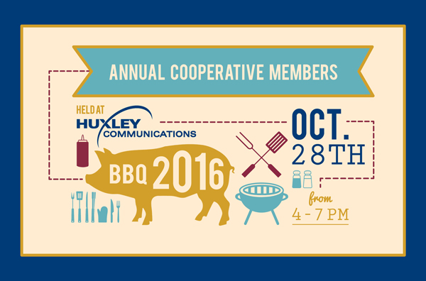 Huxley Communications Annual Cooperative Members BBQ